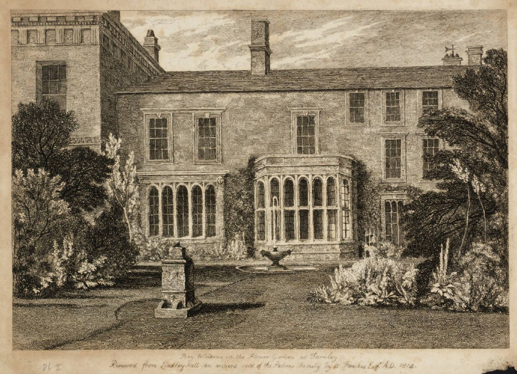 Bay Windows in the Flower Garden at Farnley published 1816 by Joseph Mallord William Turner 1775-1851