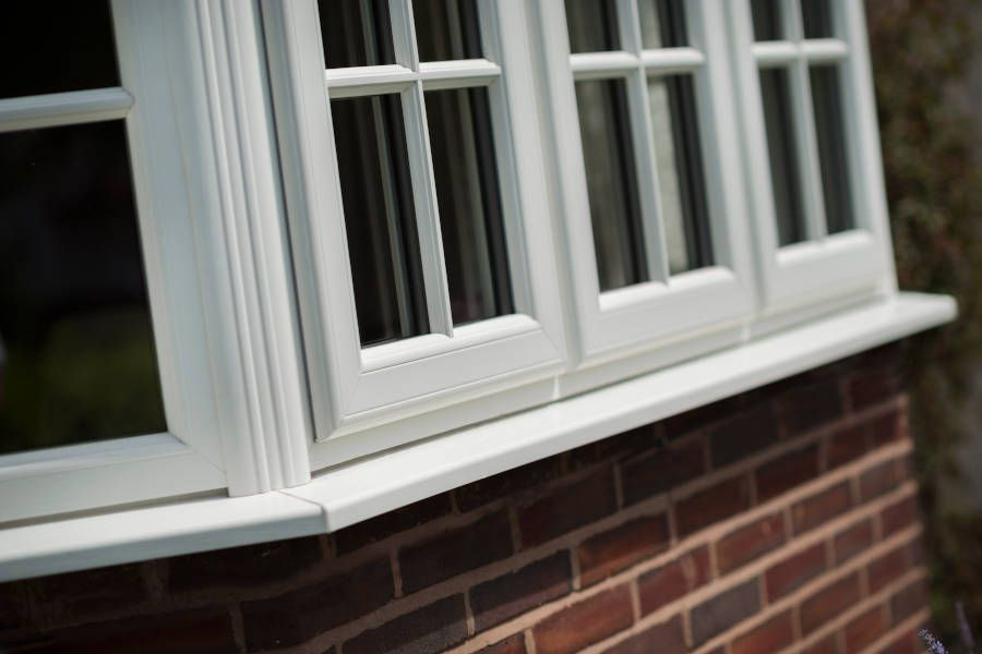 Astragal White Casement Windows - Bay