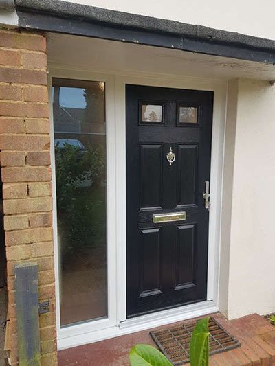 Four Panel Two Square Composite Door Mr Window