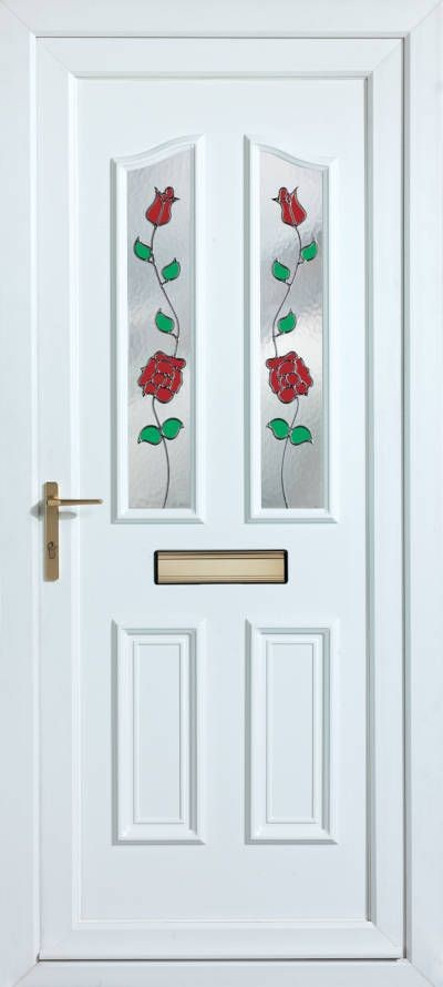 Panelled Doors - Climbing Rose