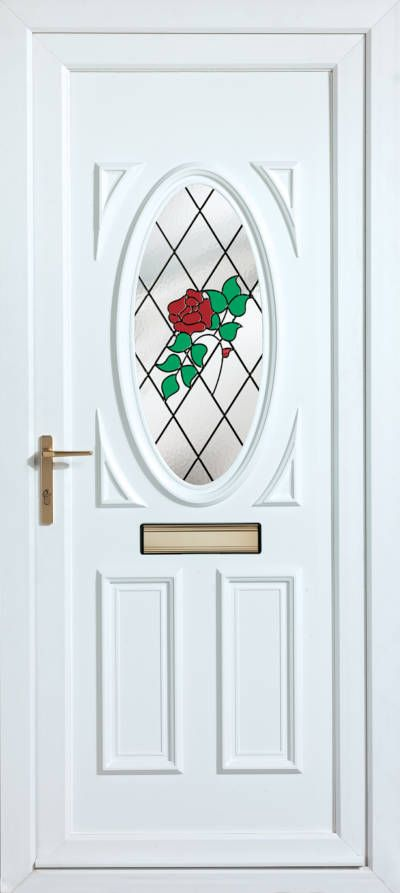 Panelled Doors - Gains Rose Spray